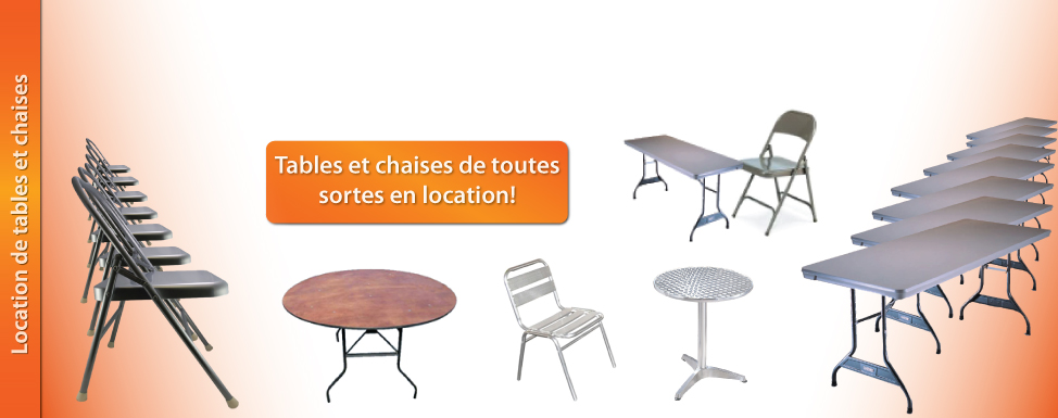Location Tables chaises
